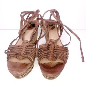 Frye Carlie Strappy Wedge Sandal